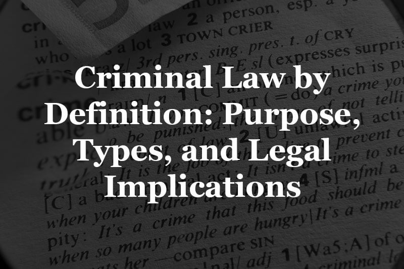 criminal law definition