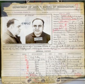 Criminal Record of Al Capone