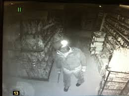 A burglar caught on tape