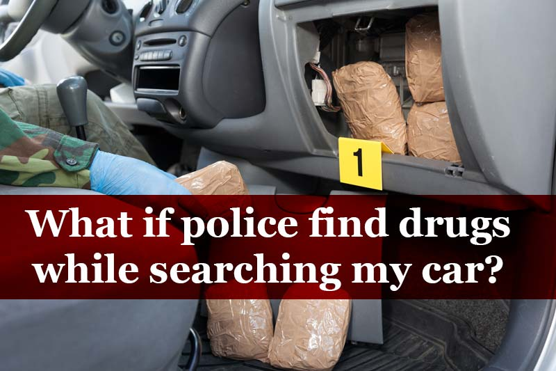 police find drugs while searching-car